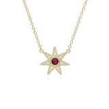 RIPKA Juliette Ruby & Pavé Diamond Star Pendant