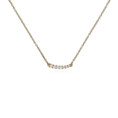 RIPKA Juliette Graduated Diamond Bar Necklace