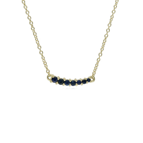 RIPKA Juliette Graduated Blue Sapphire Bar Necklace