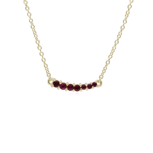 RIPKA Juliette Graduated Ruby Bar Necklace