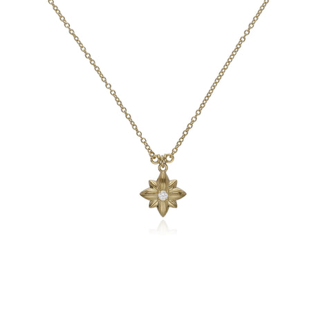 RIPKA Starlight Single Star Pendant with Diamond Accent