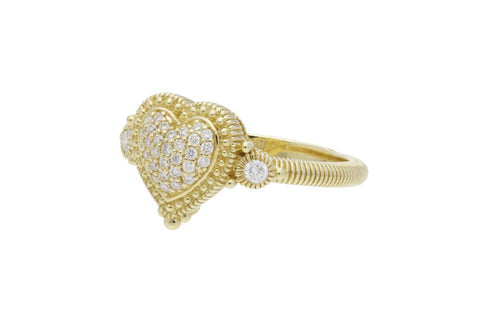 RIPKA Romance Pavé Diamond Heart Ring