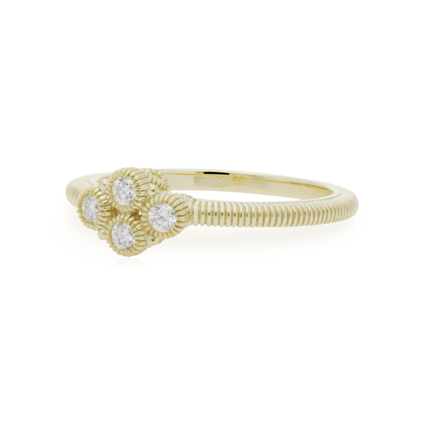 RIPKA Juliette Diamond Clover Ring