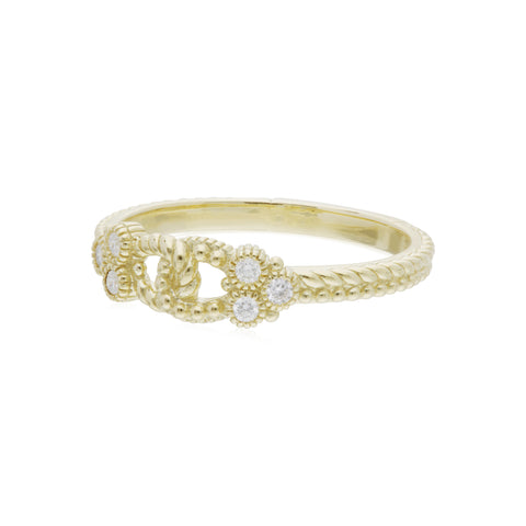 RIPKA Juliette Single Link Band Ring with Diamond Gothics
