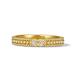 RIPKA Juliette Band Ring with a Double Pavé Heart