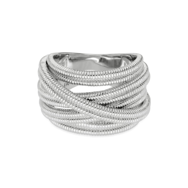 RIPKA Eternity Textured Band Ring