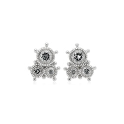 Little Luxuries White Topaz Cluster Stud Earrings