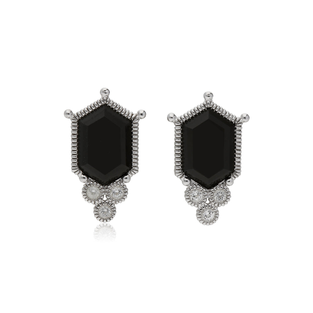 stone stud ready stacking jewelry three ship p triangle gold to pytell white topaz theresa earrings studs product trio