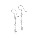 RIPKA Santorini White Topaz Linear Drop Earrings