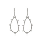 RIPKA Santorini White Topaz Organic Forward Facing Hoop Earrings