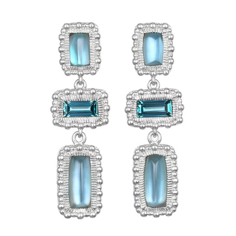 RIPKA Ambrosia Synthetic London Blue Spinel Earrings