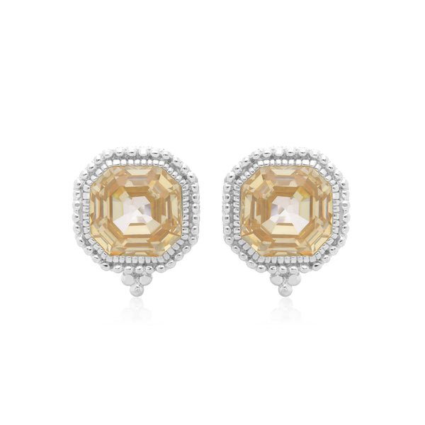 Estate Canary CZ Earrings