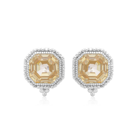 RIPKA Estate Canary CZ Earrings