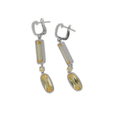 RIPKA Rio Multi Shape Canary CZ Drop Earrings