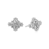 RIPKA Santorini Stud Earrings with Bezel Set White Topaz Stones