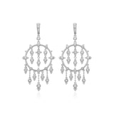 RIPKA Santorini Forward Facing Hoop Earrings with White Topaz Dangles