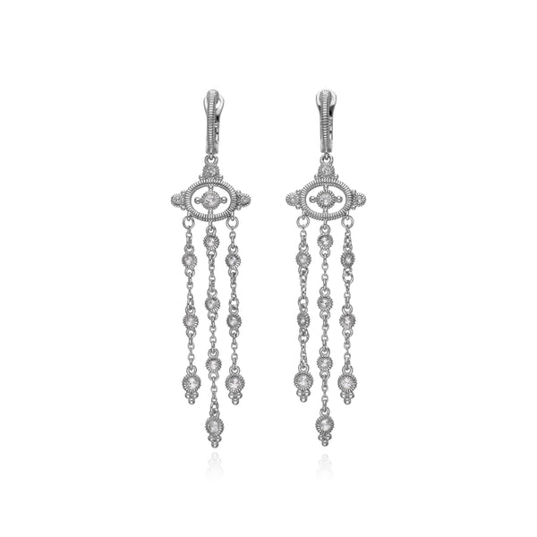 RIPKA Santorini Triple Dangle White Topaz Earrings