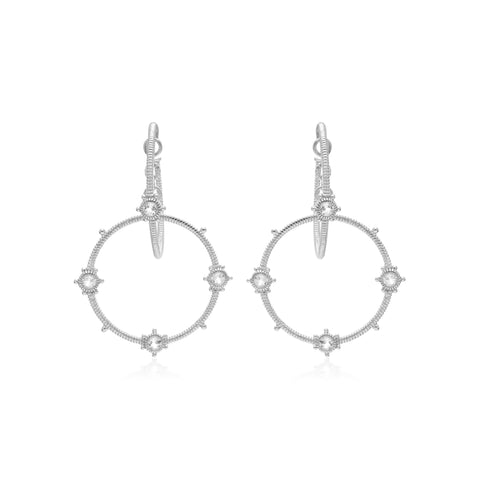 RIPKA Santorini White Topaz Hoop in Hoop Earrings
