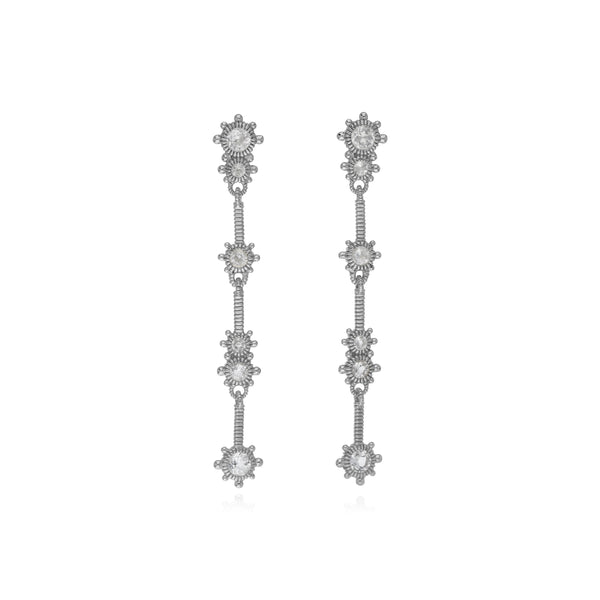 RIPKA Santorini White Topaz Linear Earrings