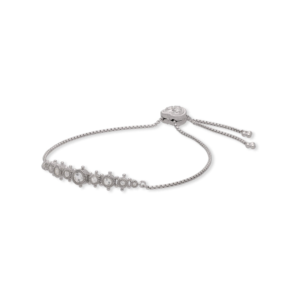 Little Luxuries White Topaz Friendship Bracelet