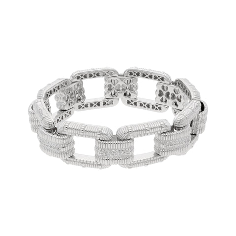 Estate White Topaz Link Bracelet
