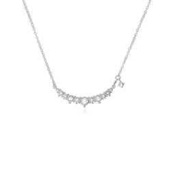 Little Luxuries White Topaz Bar Necklace