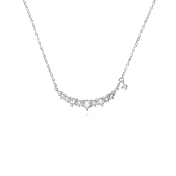 RIPKA Santorini White Topaz Bar Necklace