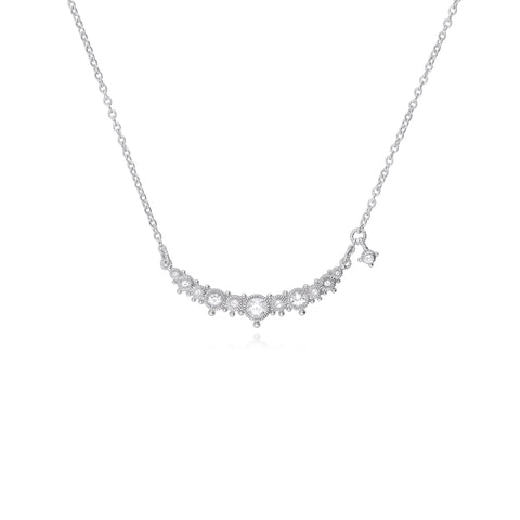 Santorini White Topaz Bar Necklace