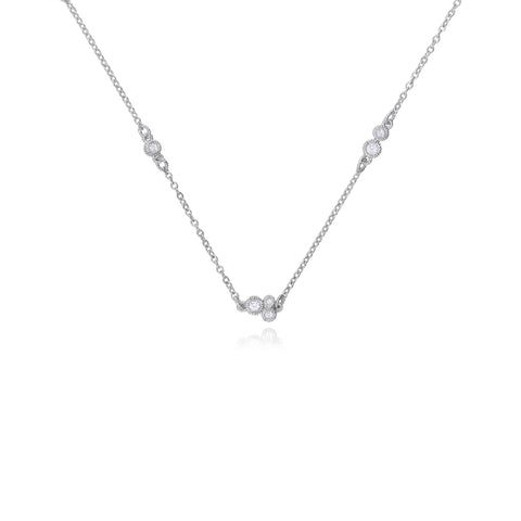 RIPKA Santorini White Topaz Station Chain Necklace