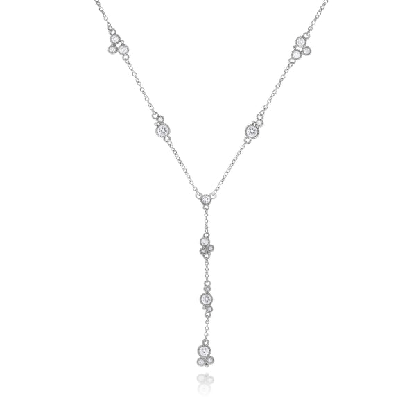 RIPKA Santorini White Topaz Station Y Necklace