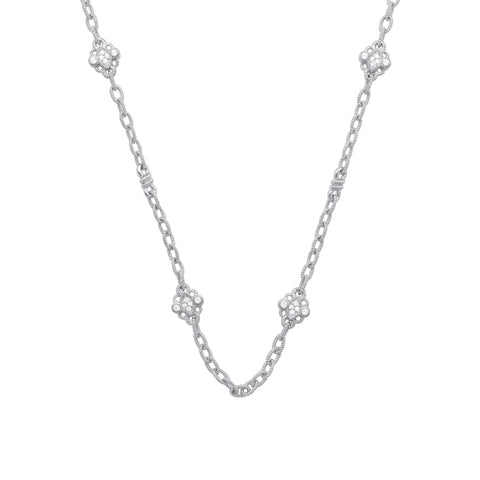 Estate White Topaz Station Necklace