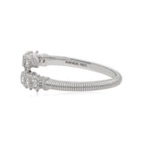 RIPKA Santorini White Topaz Single Band Bypass Ring