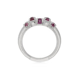 RIPKA Mardi Gras Multi Shape Rhodolite Band Ring