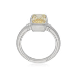 RIPKA Rio Elongated Cushion Shape Canary Crystal Ring