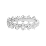 RIPKA Santorini White Topaz Multi-Stone Band Ring