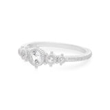 RIPKA Santorini White Topaz Bezel Set Five Stone Ring