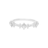RIPKA Santorini White Topaz Station Band Ring