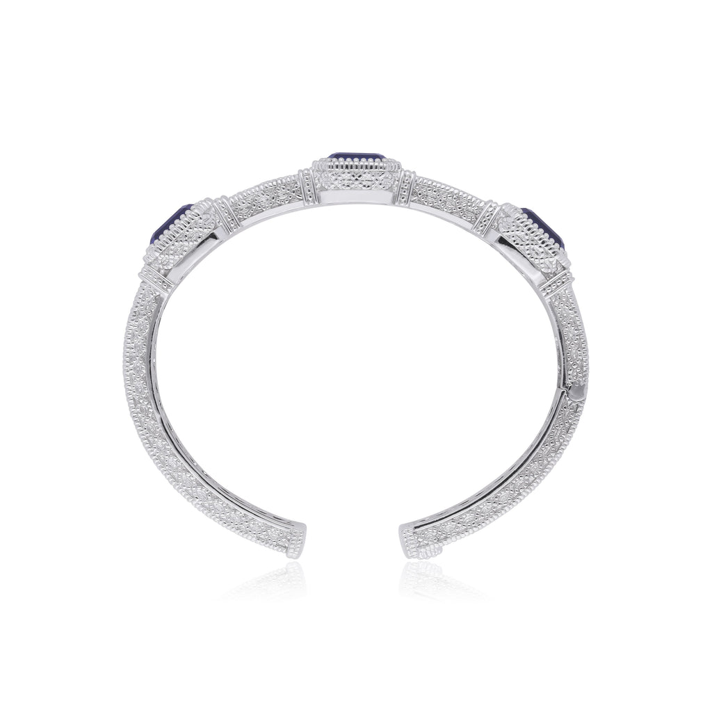 Estate Synthetic Blue Sapphire Cuff