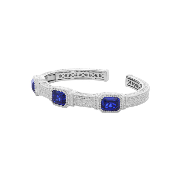RIPKA Estate Synthetic Blue Sapphire Cuff