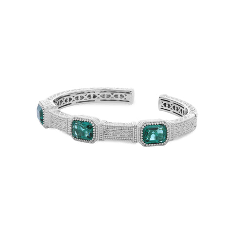 RIPKA Estate Synthetic Green Quartz Cuff