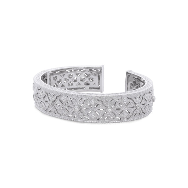 Estate White Topaz Filagree Cuff