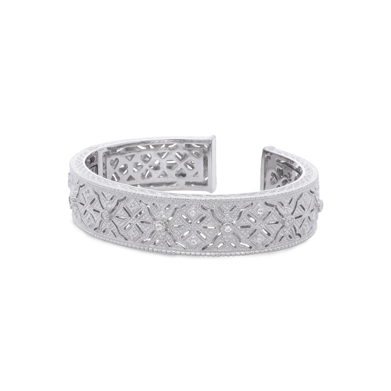 Estate White Topaz Filigree Cuff