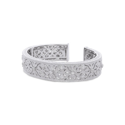 Estate White Topaz Detailed Cuff