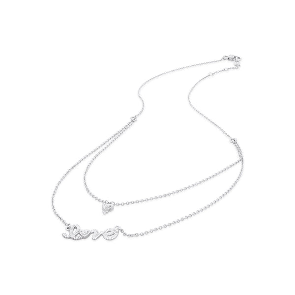 Little Luxuries White Topaz Layered Love Necklace