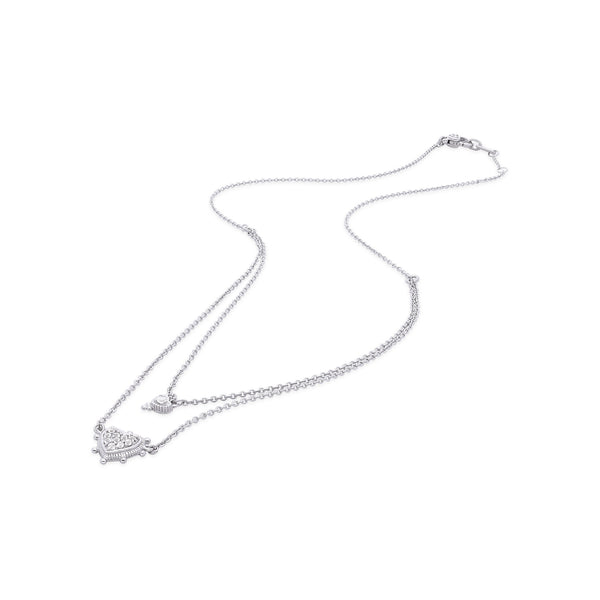 Little Luxuries White Topaz Layered Heart Necklace