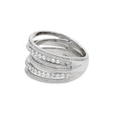 RIPKA Eternity White Topaz Double Pavé Band Ring