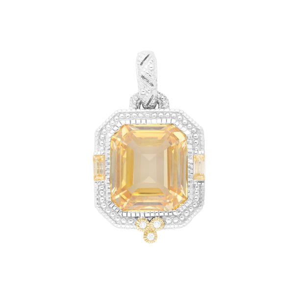 RIPKA Estate Canary Crystal & Diamond Pendant