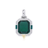 RIPKA Estate Synthetic Green Quartz & Diamond Pendant