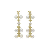 RIPKA Bella Freshwater Cultured Pearl Hoop Earrings with Diamond Accents