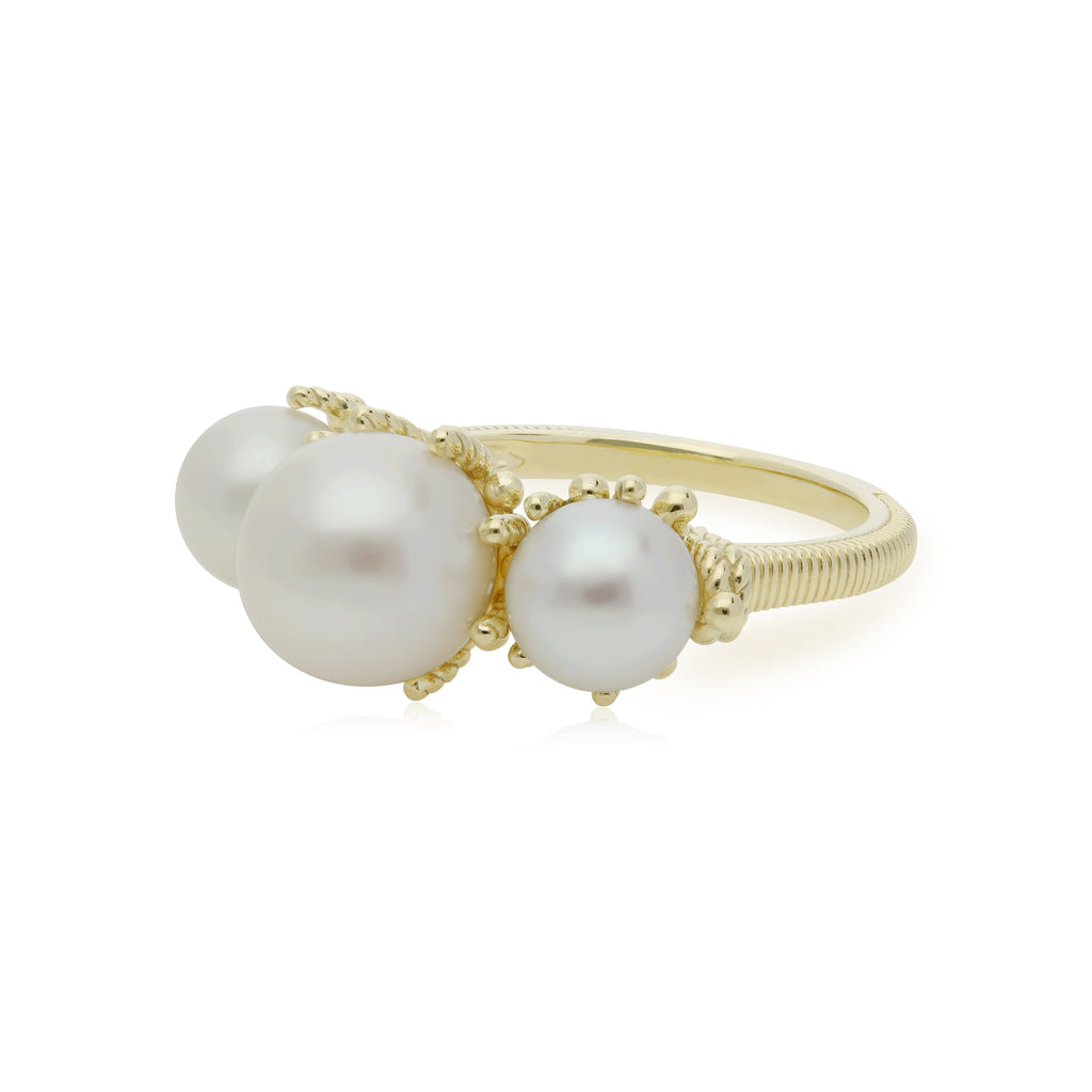 Bella Triple Pearl Ring